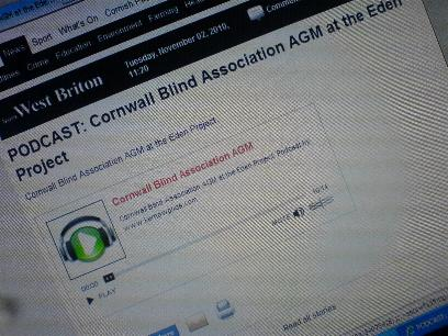 Cornwall Blind Association AGM podcast